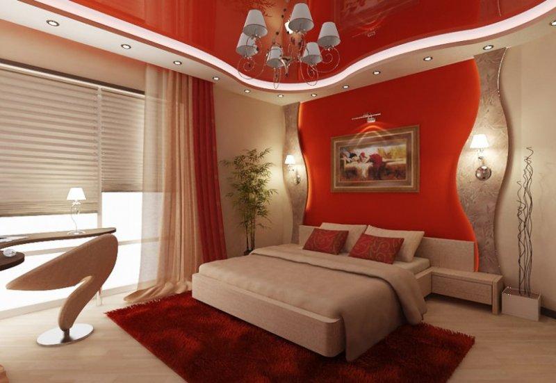 современный дизайн спальни 2018