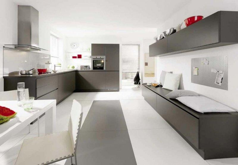 дизайн кухни в стиле хай тек