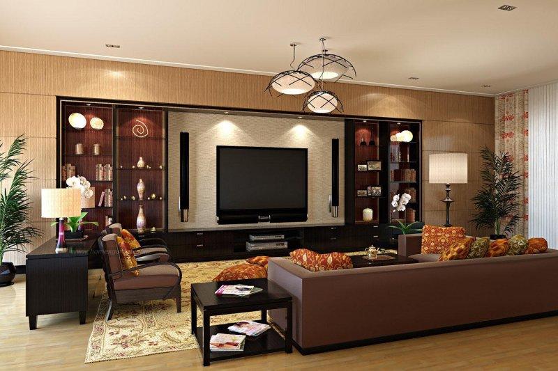 интерьер гостиных комнат в современном стиле