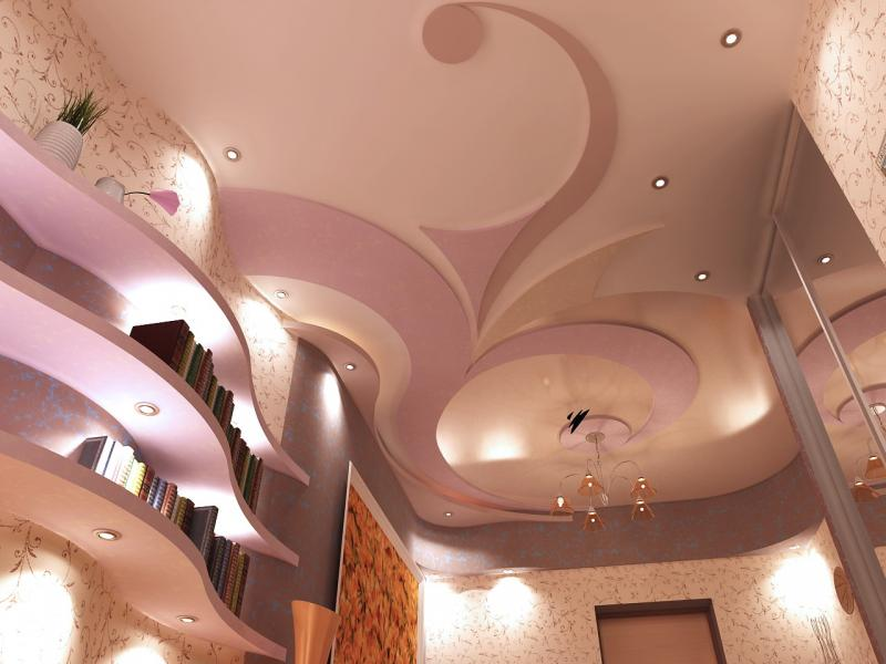 дизайн гипсокартонных потолков