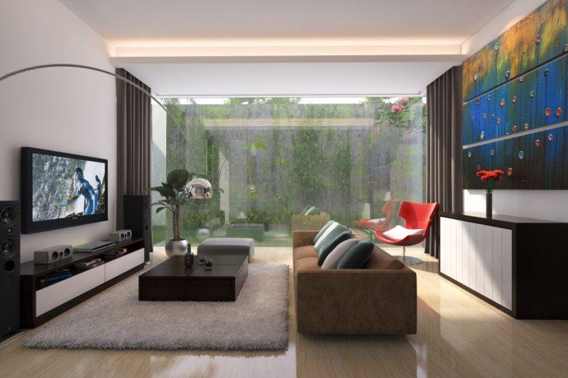 Интерьер гостиной в квартире - 70 современных фото