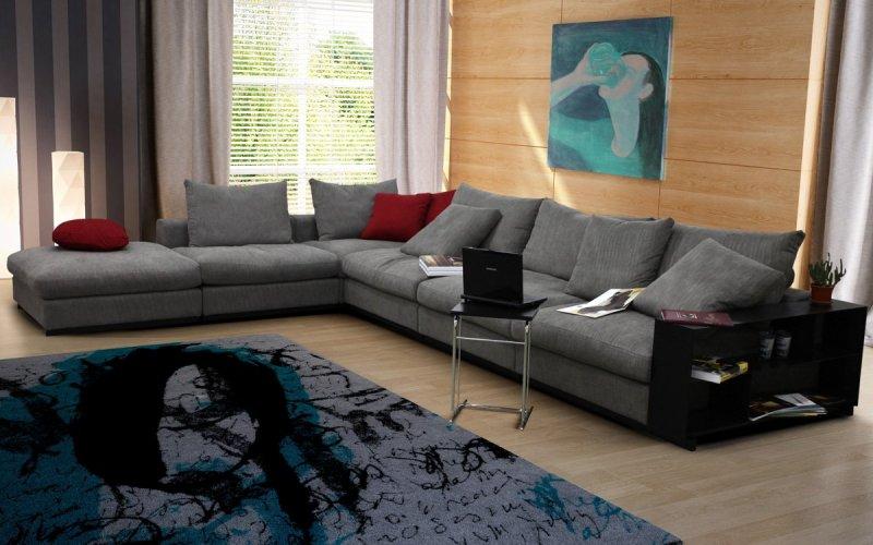 фото угловых диванов в интерьере
