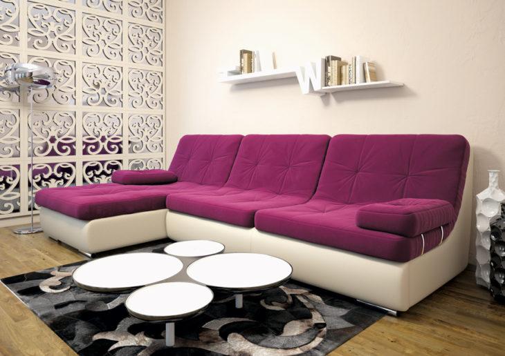 угловой диван в гостиной фото интерьера