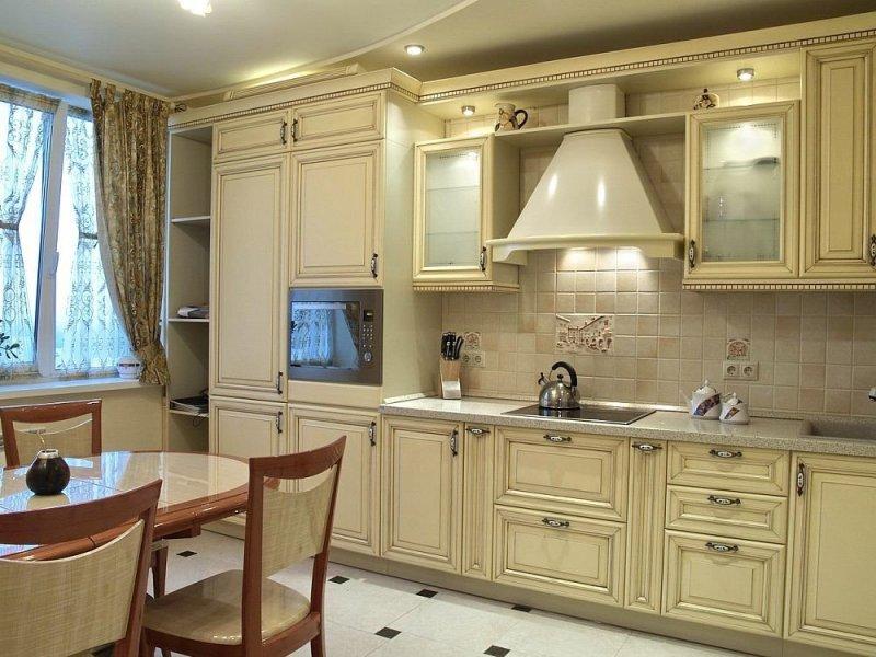 дизайн интерьера кухни цвета