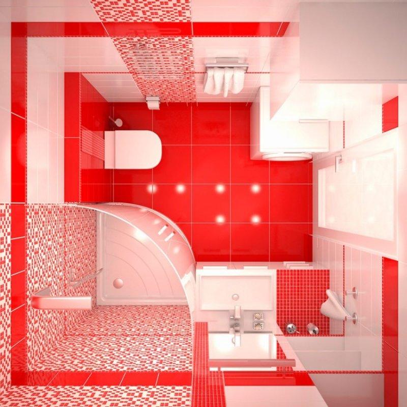 дизайн проект маленькой ванной