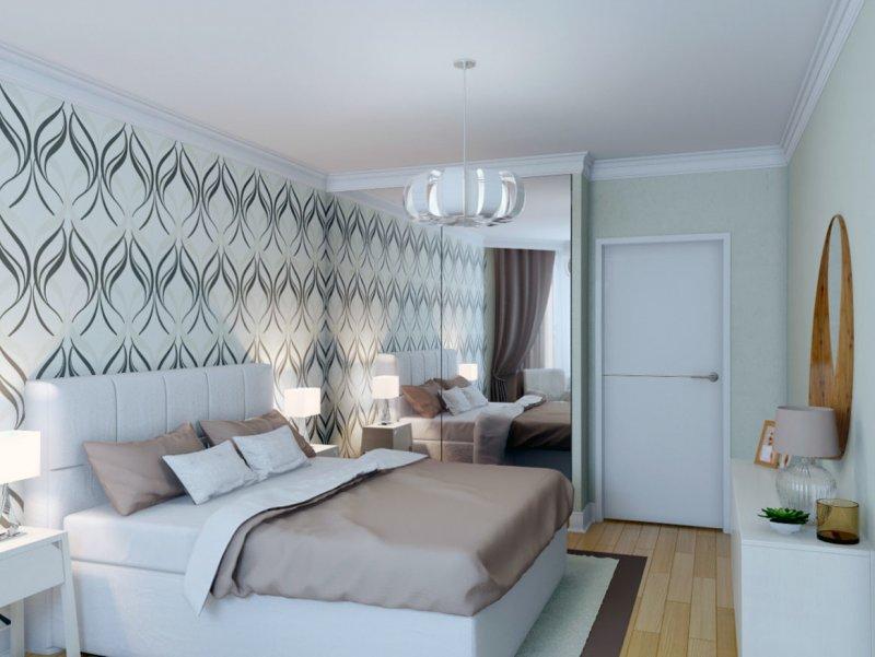 дизайн узкой спальни в хрущевке