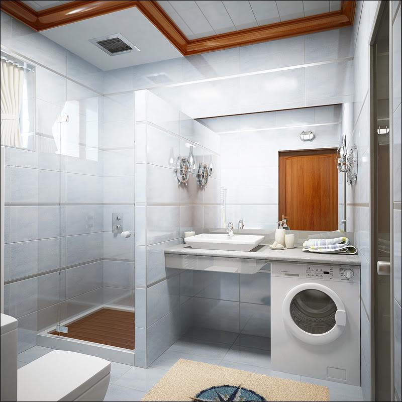 дизайн проект ванной совмещенной
