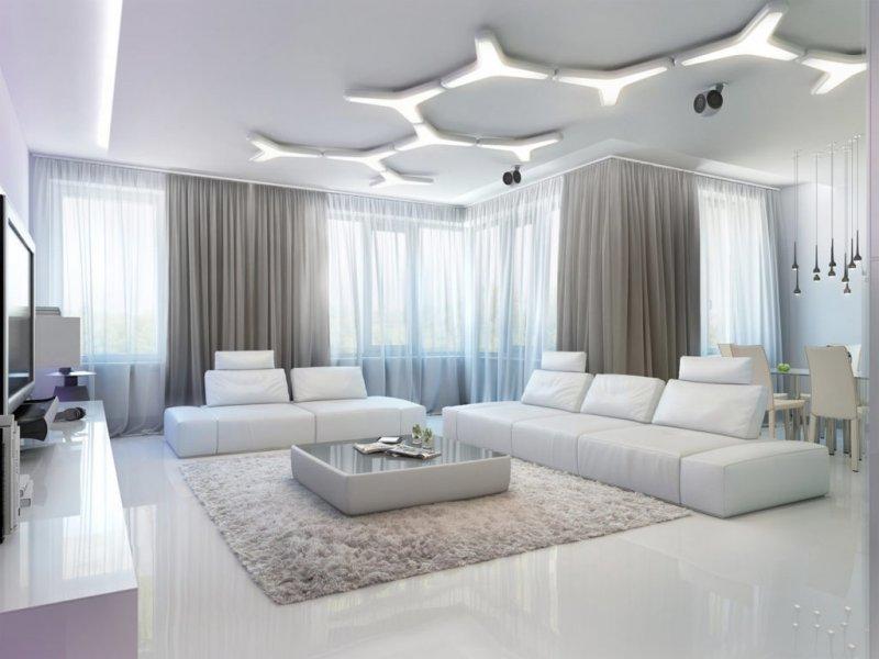 Белый пол в интерьере 65 фото современного дизайна