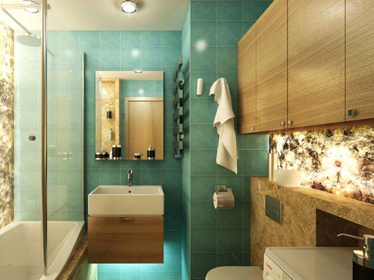 ванная комната дизайн фото модная плитка 2018 для маленькой ванны