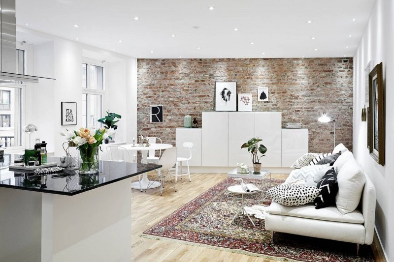 скандинавский стиль в интерьере загородного дома фото