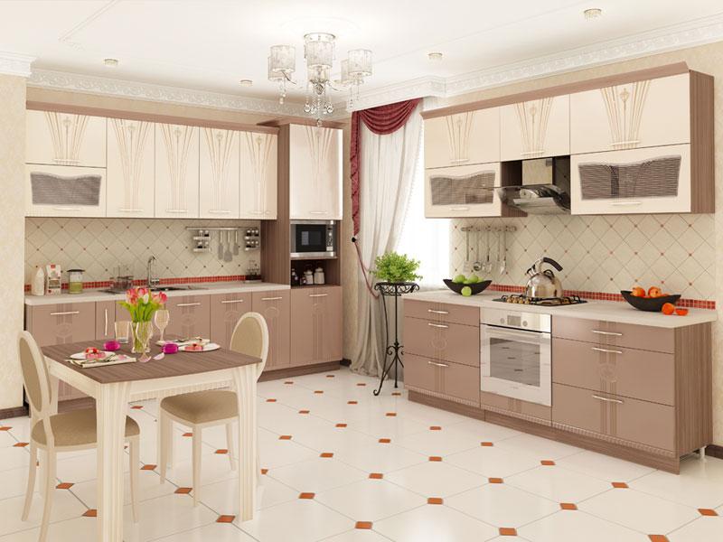 кухонный гарнитур в стиле хай тек