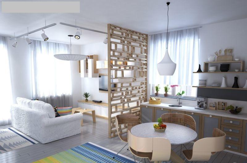 интерьер комнаты в скандинавском стиле