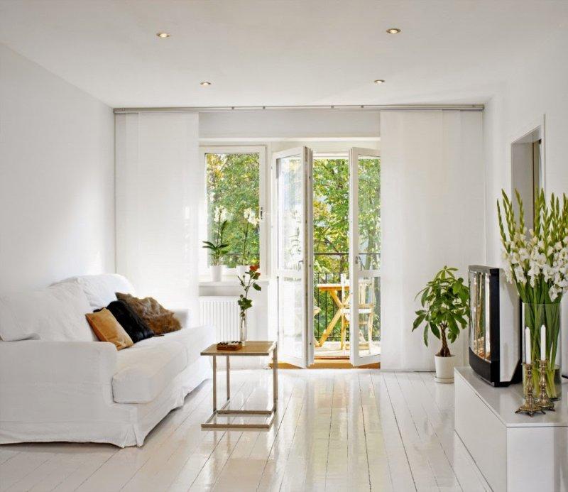 белый пол темные двери в интерьере фото