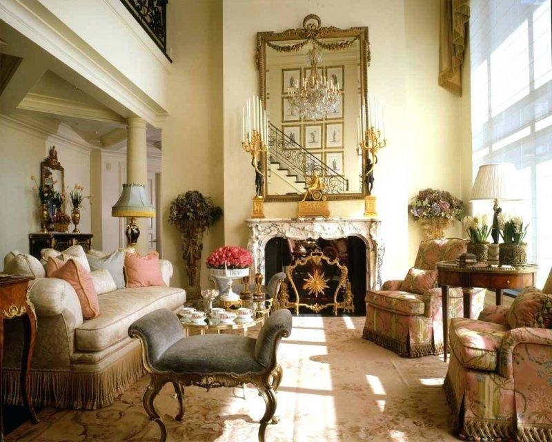 гостиная во французском стиле
