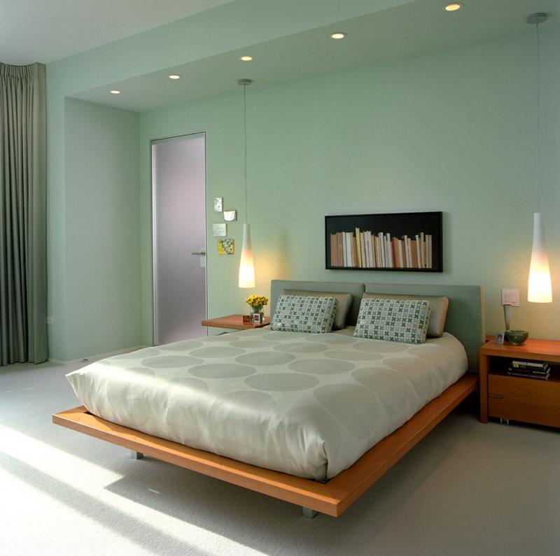 расположение светильников в спальне