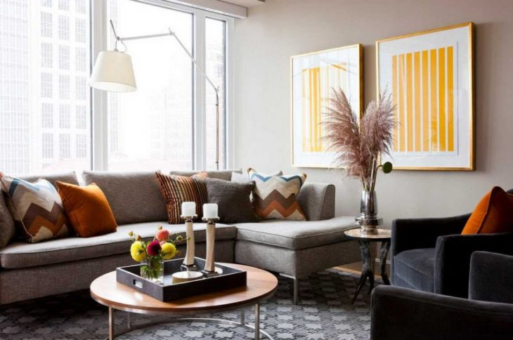 диваны угловые в интерьере квартиры фото