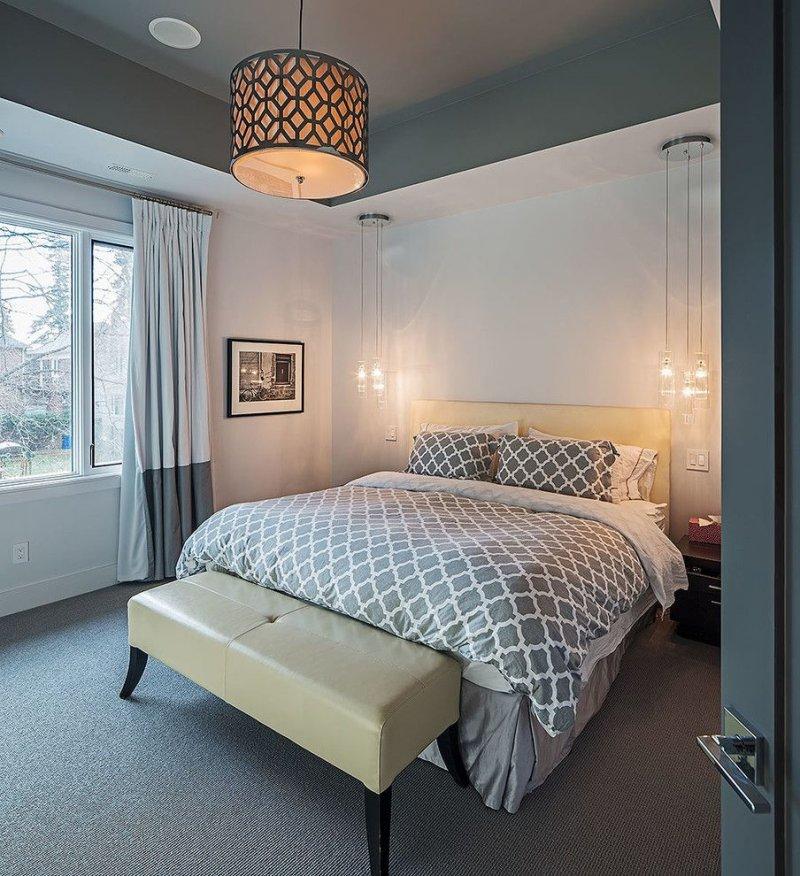 как расположить светильники в спальне
