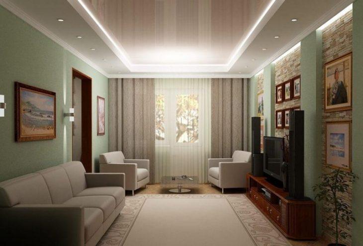 Дизайн гостиной в хрущевке - 100 реальных фото интерьера