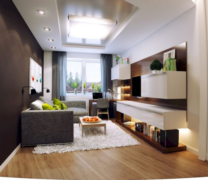 дизайн маленькой комнаты в современном стиле