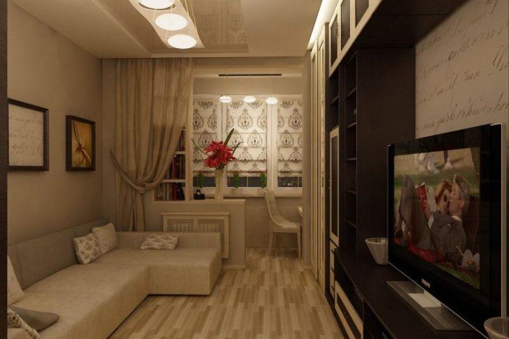 гостиная в квартире хрущевке