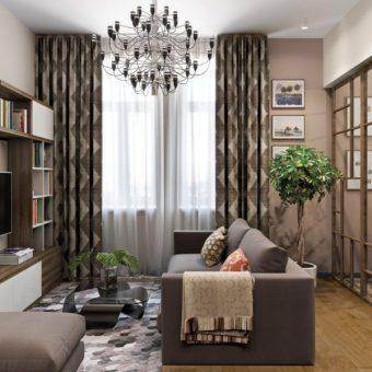 Гостиная в хрущевке - дизайнерские решения