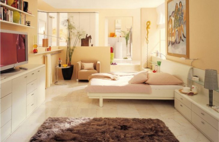 маленькая светлая комната дизайн