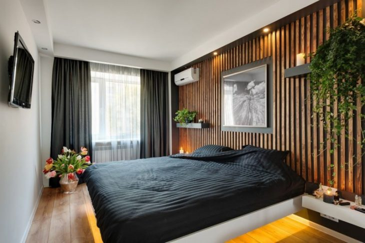 дизайн стен маленькой комнаты