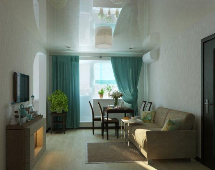 интерьер гостиной в хрущевке