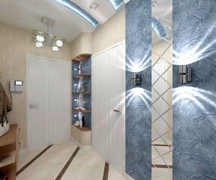 прихожие в коридор малогабаритные со шкафом