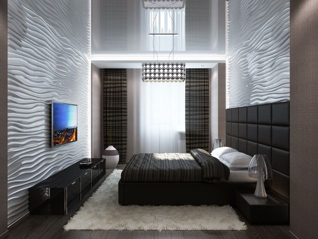 интерьер спальни хай тек