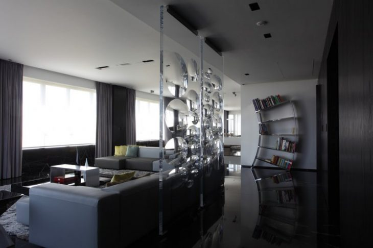 стиль хай тек в интерьере квартиры фото