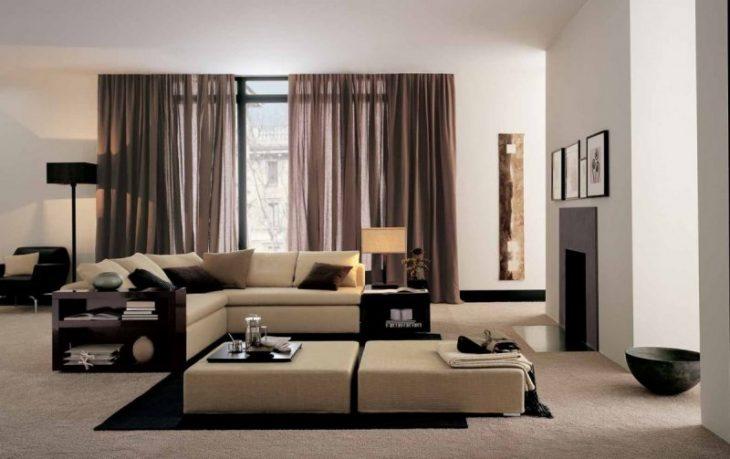 интерьер комнаты в стиле хай тек