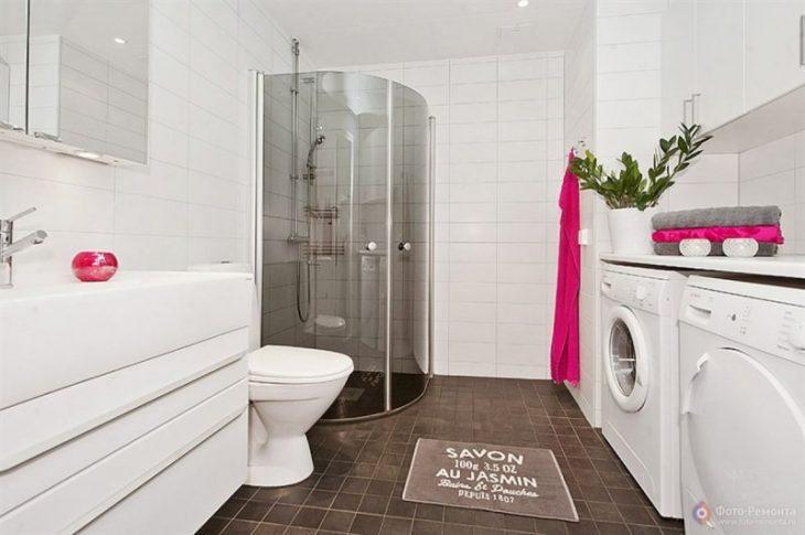 дизайн ванной комнаты скандинавский стиль