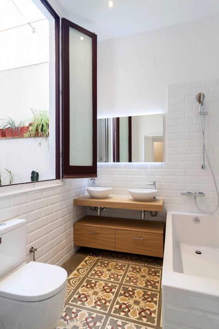 мебель для ванной скандинавский стиль