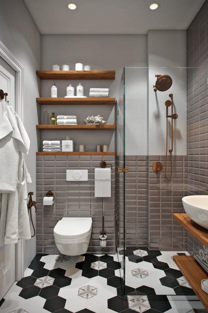 плитка для ванной в скандинавском стиле