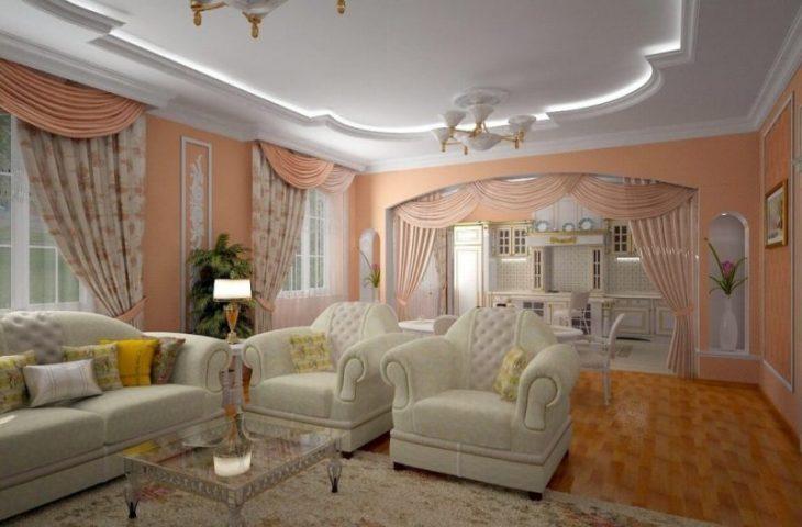 идеи дизайна гостиной фото
