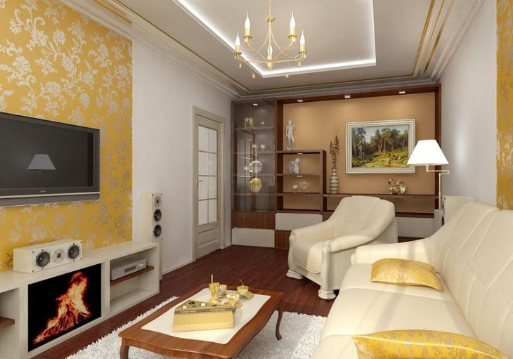 идеи дизайна гостиной комнаты
