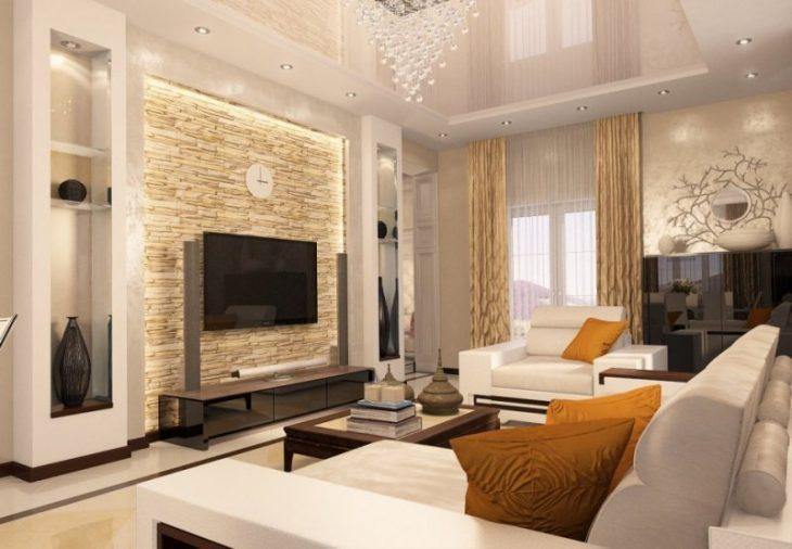 дизайн реальной гостиной