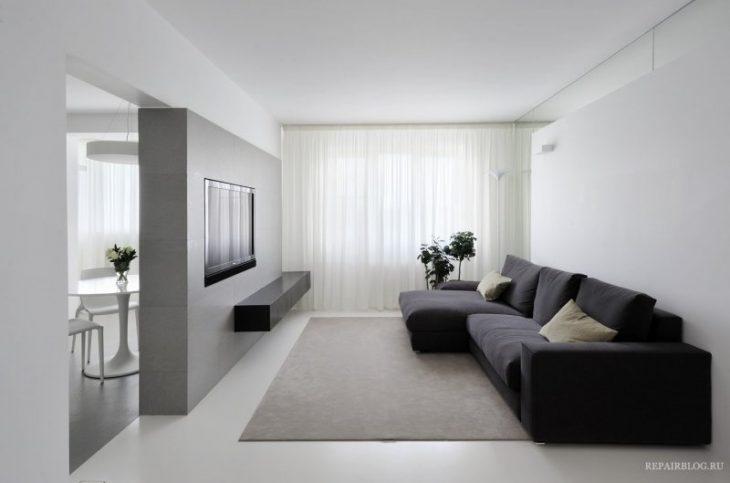 интерьер в стиле минимализм фото