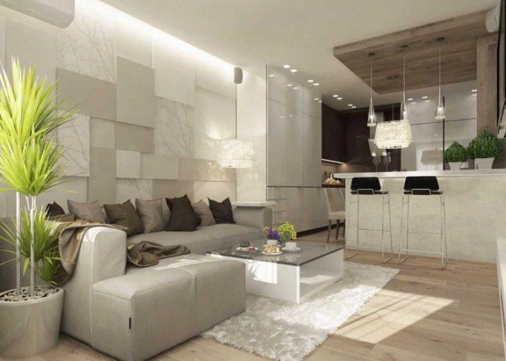 современный интерьер гостиной в квартире