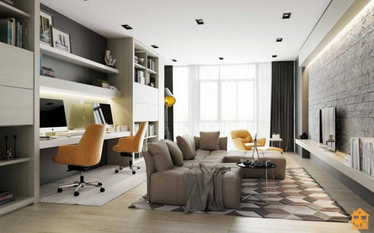 современный интерьер квартиры кухня