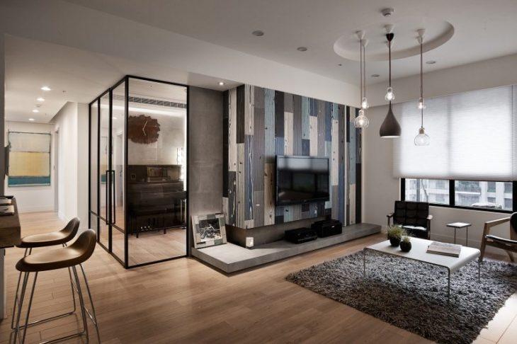 современный интерьер спальни в квартире фото