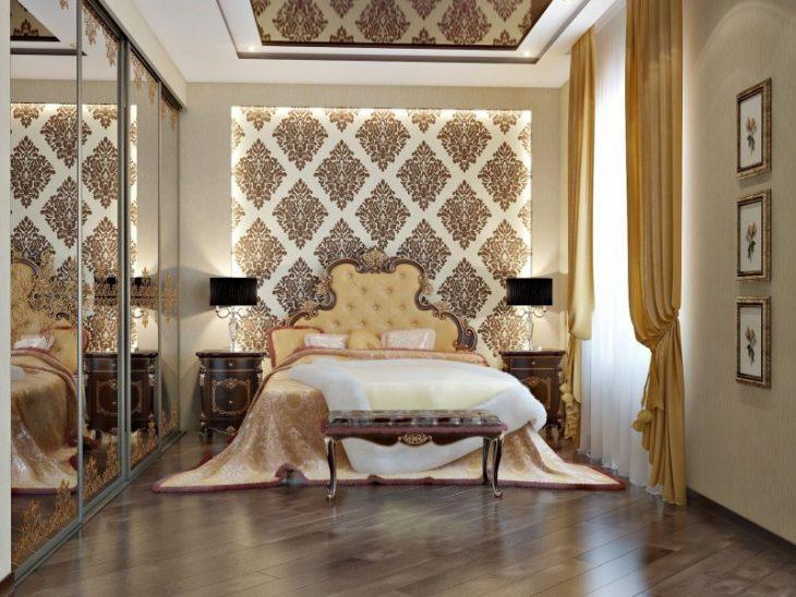 идеи обоев для спальни