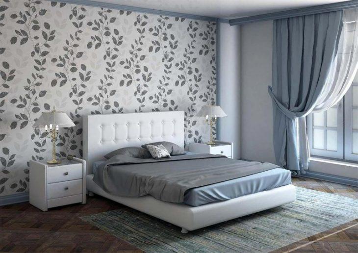 модные обои для спальни