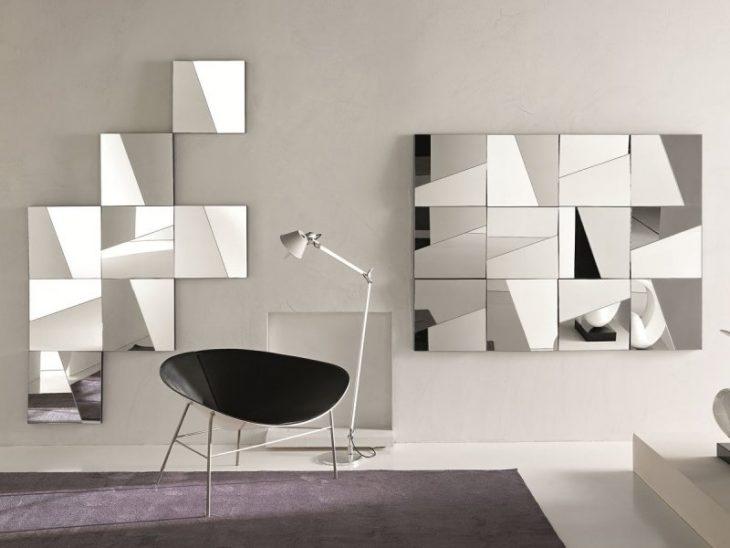 зеркало с подсветкой в интерьере