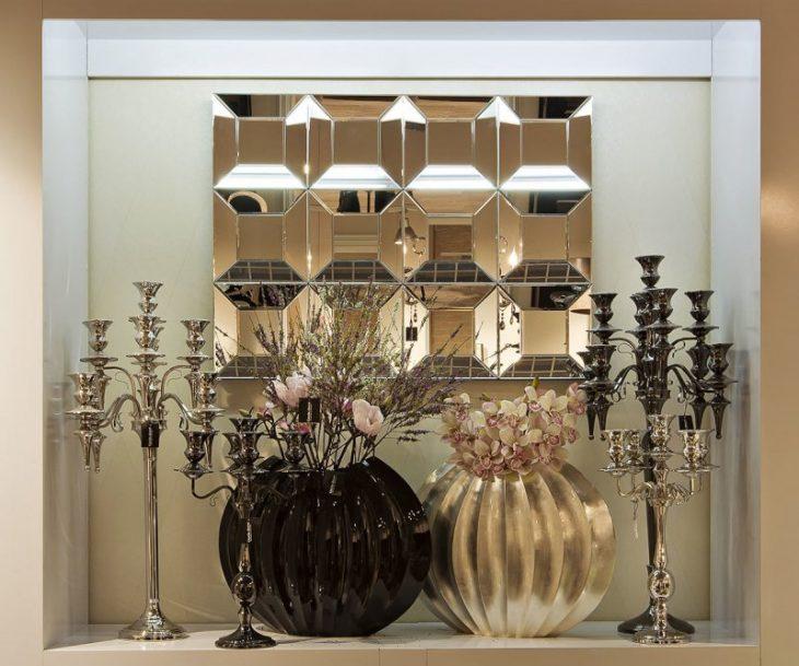 декор зеркалами в интерьере