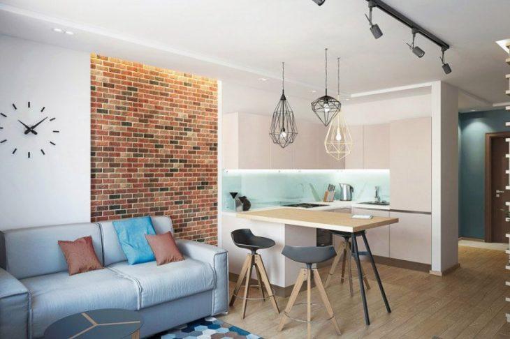 дизайн проект однокомнатной квартиры фото