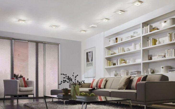 светильники в стене в интерьере