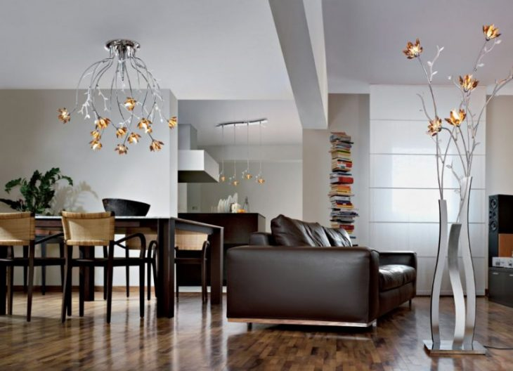светильники в интерьере квартиры фото