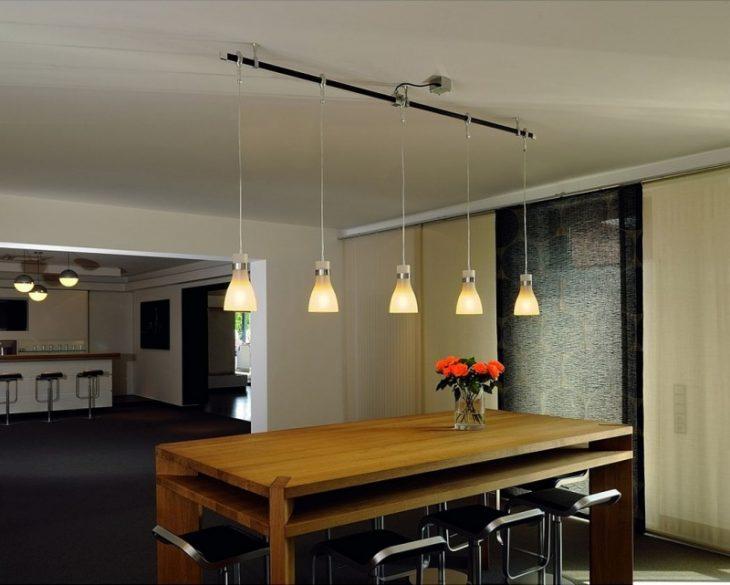 подвесные светильники в интерьере